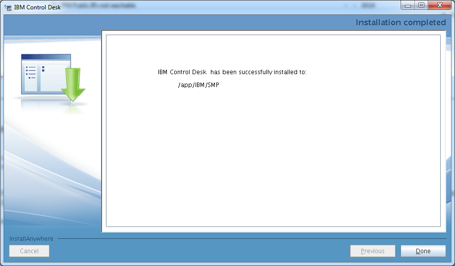 control-desk-service-provider-edition-installation-completed