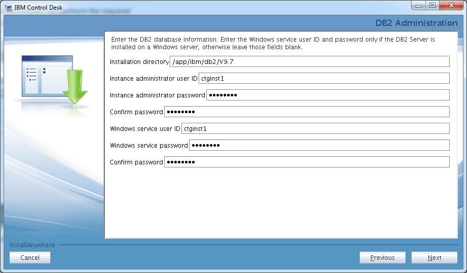 control-desk-service-provider-edition-installer-db2-instance-login