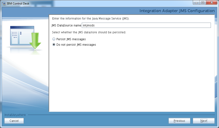 control-desk-service-provider-edition-installer-jms-settings