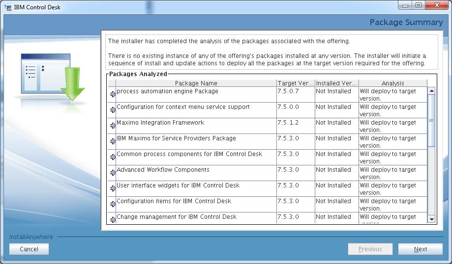 control-desk-service-provider-edition-installer-package-summary