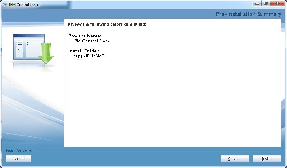 control-desk-service-provider-edition-installer-pre-install-summary