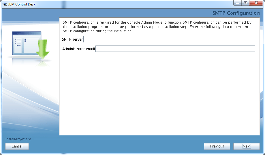 control-desk-service-provider-edition-installer-smtp