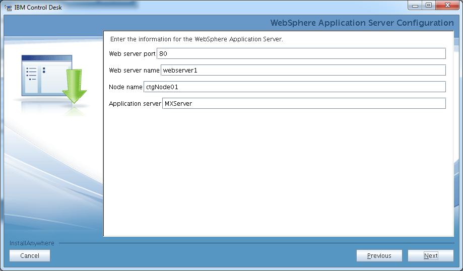 control-desk-service-provider-edition-installer-websphere-configuration-params