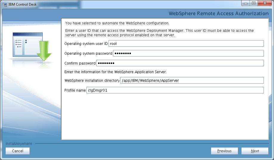 control-desk-service-provider-edition-installer-websphere-remote-access