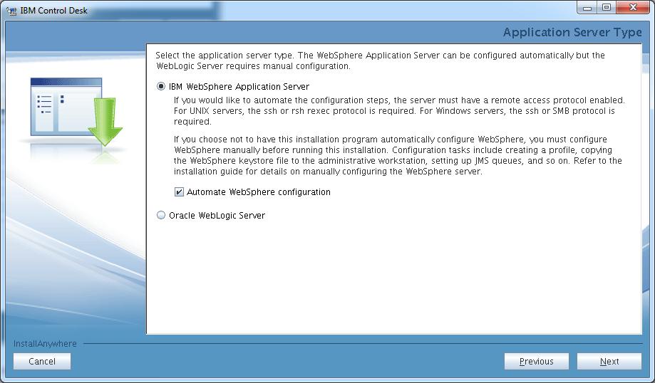 control-desk-service-provider-edition-installer-websphere-select